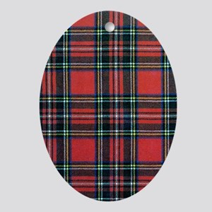 Royal Stewart Tartan Oval Ornament