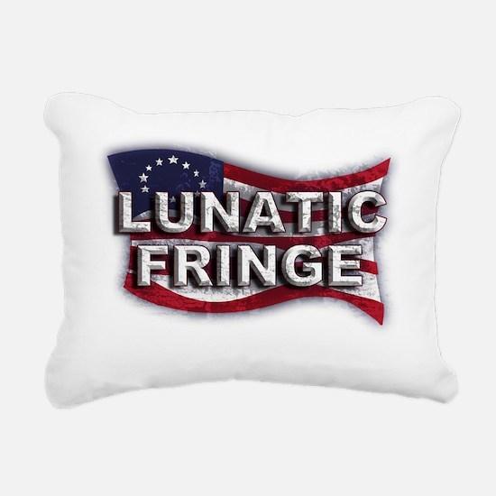 Lunatic Fringe Flag (txt Rectangular Canvas Pillow