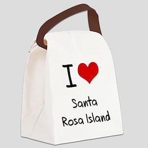 I Love SANTA ROSA ISLAND Canvas Lunch Bag