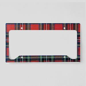 Royal Stewart Tartan2 License Plate Holder