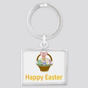 Happy Easter 6 Landscape Keychain