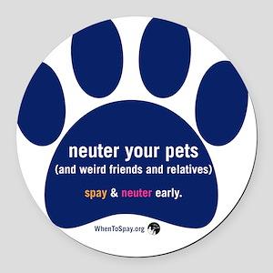 Neuter Your Pets Round Car Magnet