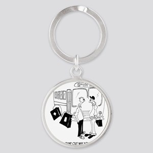 Why Youre Having a Bumpy Ride Round Keychain
