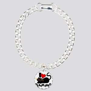 LOVE BLACK CATS Charm Bracelet, One Charm