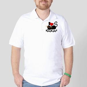 LOVE BLACK CATS Golf Shirt