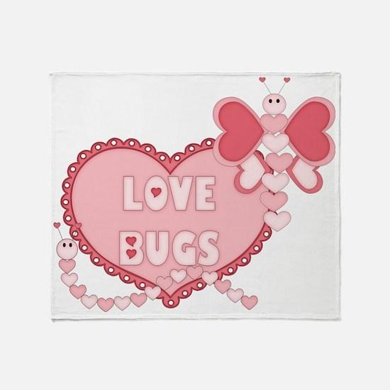 Love Bugs Throw Blanket