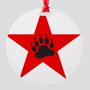 Red Star Round Ornament