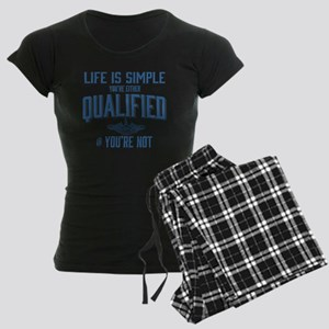 Life is Simple: Youre Either Women's Dark Pajamas