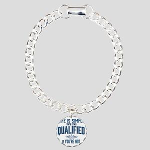 Life is Simple: Youre Ei Charm Bracelet, One Charm