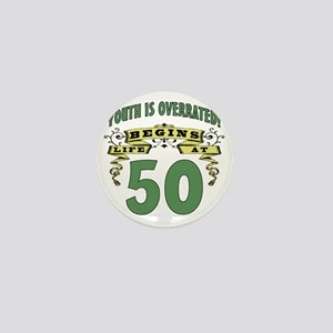 Life Begins At 50th Birthday Mini Button