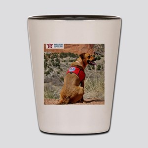 Posie at the Garden of the Gods Shot Glass