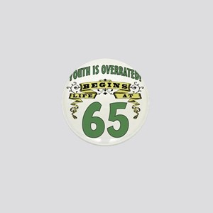 Life Begins At 65th Birthday Mini Button