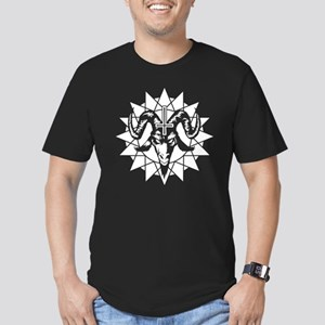 Satanic Goat Head with Men's Fitted T-Shirt (dark)