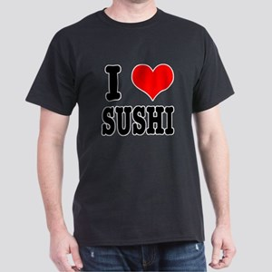 I Heart (Love) Sushi Dark T-Shirt