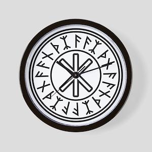 Odin's Protection No.2_1c Wall Clock