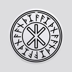 Odin's Protection No.2_2c Round Ornament