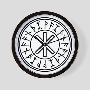 Odin's Protection No.2_2c Wall Clock