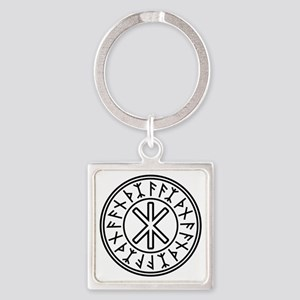 Odin's Protection No.2_2c Square Keychain