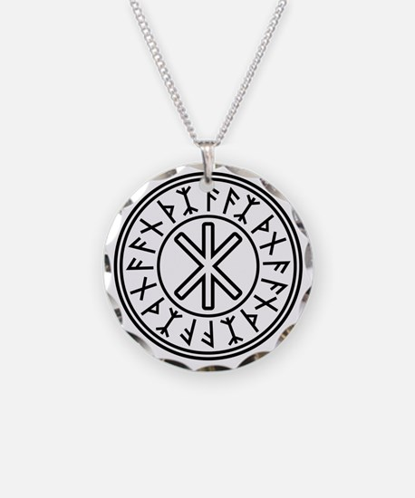 Odin's Protection No.2_2c Necklace Circle Charm