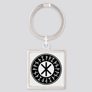 Odin's Protection No.1_2c Square Keychain