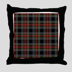 Black Stewart Scottish Clan Throw Pillow