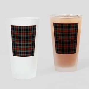 Black Stewart Scottish Clan Drinking Glass