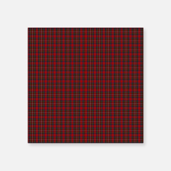 "Royal Stewart Scottish Tart Square Sticker 3"" x 3"""