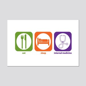 Eat Sleep Internal Medicine Mini Poster Print
