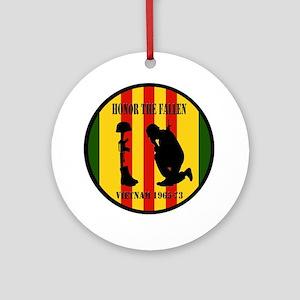 Honor the Fallen Vietnam 1965-73 Round Ornament
