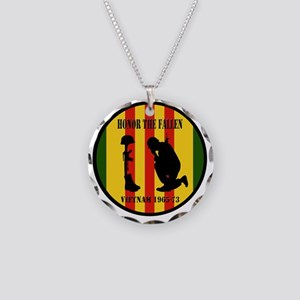 Honor the Fallen Vietnam 196 Necklace Circle Charm