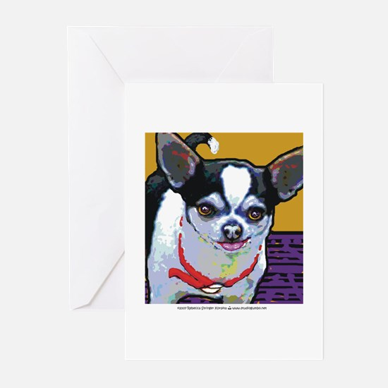 Black & White Chihuahua Greeting Cards (Package of