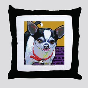 Black & White Chihuahua Throw Pillow