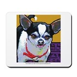 Black and white chihuahua Classic Mousepad