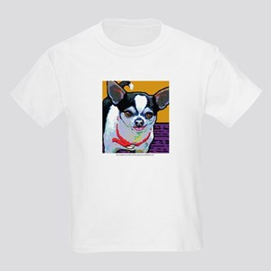 Black & White Chihuahua Kids Light T-Shirt