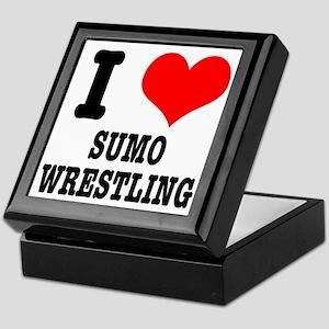 I Heart (Love) Sumo Wrestling Keepsake Box
