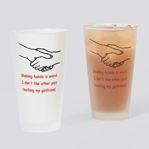 Shaking Hands Is Weird Drinking Glass