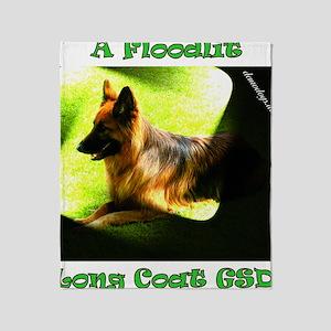 A Floodlit Long Coat GSD Throw Blanket
