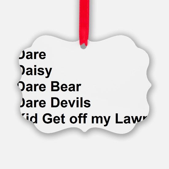List of Darren's Nicknames Ornament