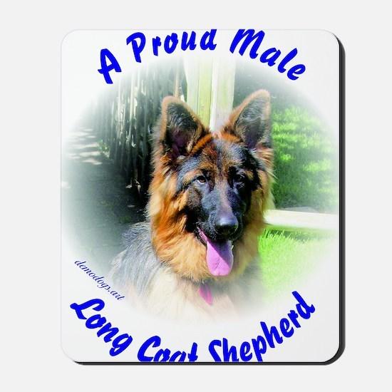 A Proud Male Long Coat Shepherd Mousepad