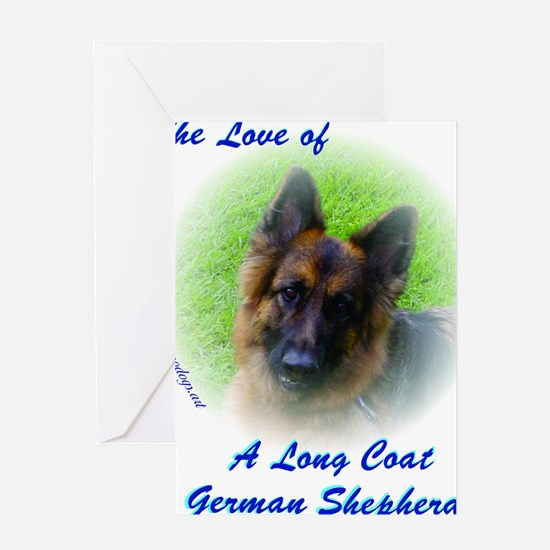 The Love of a Long Coat German Sheph Greeting Card