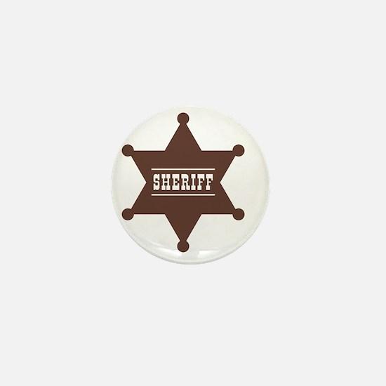 Sheriff's Star Mini Button