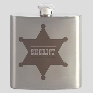 Sheriff's Star Flask
