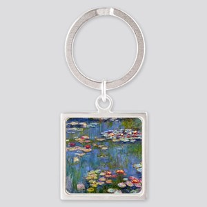 Water Lilies 1916 by Claude Monet Square Keychain