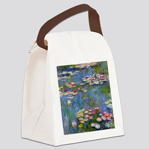 Water Lilies 1916 by Claude Monet Canvas Lunch Bag
