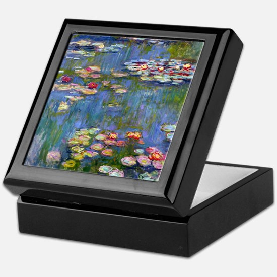 Water Lilies 1916 by Claude Monet Keepsake Box