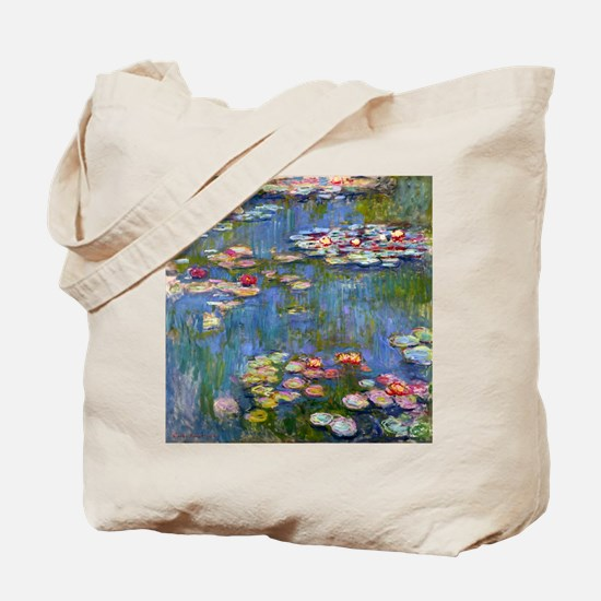 Water Lilies 1916 by Claude Monet Tote Bag