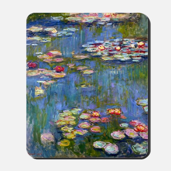 Water Lilies 1916 by Claude Monet Mousepad