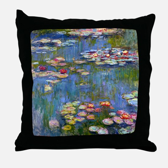 Water Lilies 1916 by Claude Monet Throw Pillow