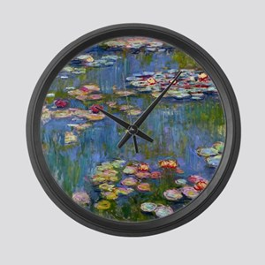 Water Lilies 1916 by Claude Monet Large Wall Clock