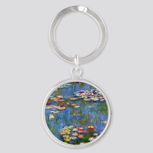 Water Lilies 1916 by Claude Monet Round Keychain